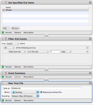 Mac Users: Tracking Billable Hours with iCal and Automator